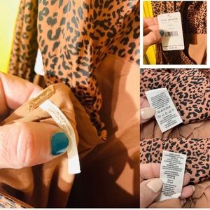 Free People Dresses - FREE PEOPLE Midi Dress Open back Leopard print 12